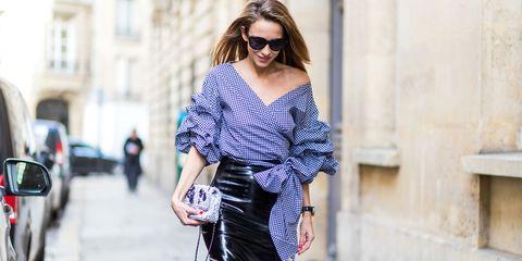 Clothing, Eyewear, Shoulder, Joint, Bag, Style, Street fashion, Sunglasses, Fashion, Fashion model,