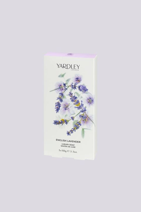 """<p>The royal household keeps location-specific Yardley soaps and hand washes at each royal locale. Their luxe soaps are even offered to private guests at Windsor Castle, which happens to be next door to the brand's office. No wonder they've got multiple royal warrants under their belt. </p><p>Moisturizing Bar in English Lavender, $3; <a href=""""https://www.yardleylondon.co.uk/english-lavender-luxury-soaps.html"""" data-tracking-id=""""recirc-text-link"""">yardleylondon.co.uk</a>.</p>"""