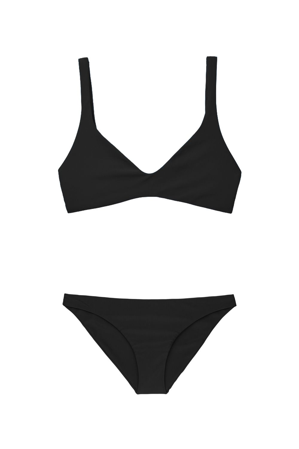 """<p>Skeptical? Don't be—a plunge top with thicker straps works for all kinds of chests, while a low-rise bottom provides medium coverage so you can actually *do* things.</p><p>Top, $50, <a href=""""https://bikyni.com/products/the-plunge"""" target=""""_blank"""" data-tracking-id=""""recirc-text-link"""">bikyni.com</a>; bottoms, $50, <a href=""""https://bikyni.com/products/the-bikini"""" target=""""_blank"""" data-tracking-id=""""recirc-text-link"""">bikyni.com</a>.</p>"""