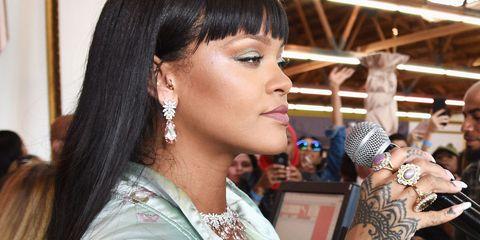 Earrings, Hairstyle, Forehead, Eyebrow, Eyelash, Body piercing, Fashion accessory, Jewellery, Style, Black hair,