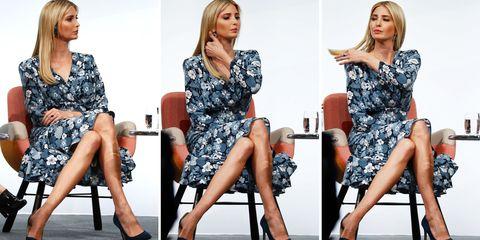 Fashion model, Clothing, Leg, Fashion, Footwear, Dress, Human leg, High heels, Sitting, Thigh,