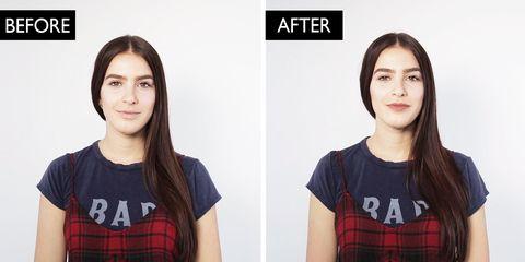 Face, Hair, Product, Hairstyle, Head, Beauty, Skin, Eyebrow, Chin, Lip,