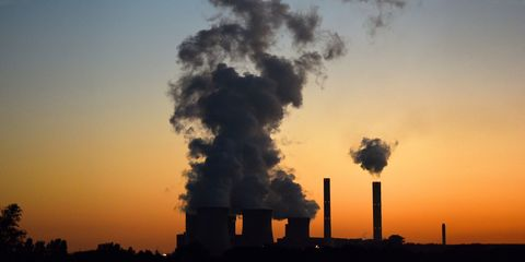 Pollution, Smoke, Sky, Atmosphere, Power station, Heat, Explosion, Industry, Tree, Factory,
