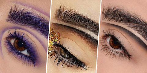 Eyebrow, Eyelash, Eye, Hair, Eye shadow, Organ, Cosmetics, Eyelash extensions, Skin, Beauty,