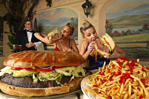 Food, Sandwich, Cuisine, Dish, Finger food, Baked goods, French fries, Bun, Leaf vegetable, Vegetable,