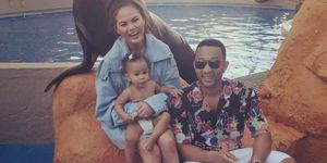 Chrissy Teigen and John Legend took Luna to the aquarium