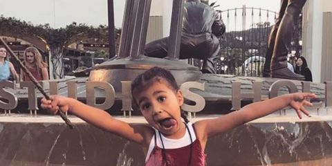 North West's reaction to Kim Kardashian's 100 million instagram followers