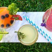 Food, Drink, Ingredient, Plant, Herb, Smoothie, Vegetable juice, Dish, Lemonade,