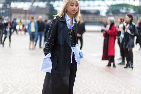 Clothing, Street fashion, Fashion, Suit, Outerwear, Electric blue, Costume, Formal wear, Event, Style,