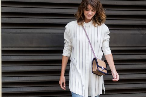 Sleeve, Shoulder, Collar, Joint, Bag, Style, Street fashion, Fashion accessory, Luggage and bags, Beige,