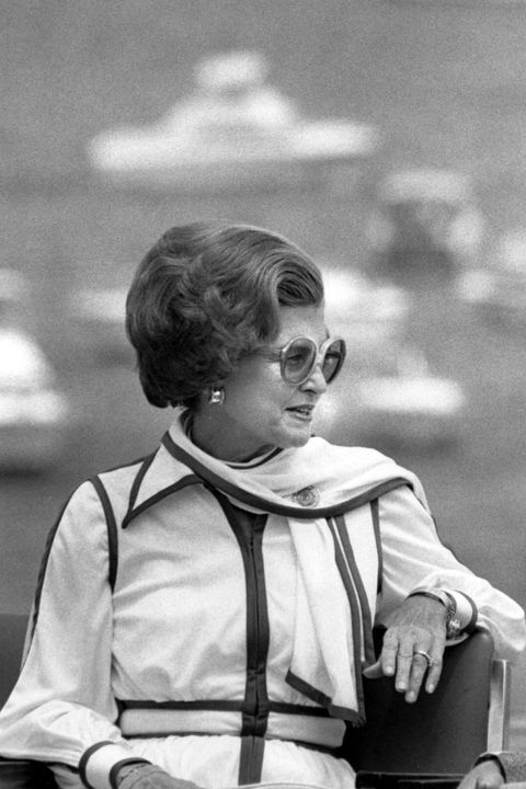 "<p>Betty Ford was already a sore spot for Republicans during her husband's campaign because she was divorced. After Gerald Ford's presidency, Betty checked herself into a recovery facility for an addiction to painkillers and alcohol.&nbsp;<a href=""http://www.firstladies.org/blog/twentieth-century-first-ladies-liquor-in-the-white-house/ "" target=""_blank"" data-tracking-id=""recirc-text-link"">She wrote in her memoirs</a> that she didn't let herself become truly addicted to either during her time as first lady or during her husband's reelection campaign, but she went on to raise awareness on the issue of alcoholism and how it relates to women for much of her post-White House life.</p>"