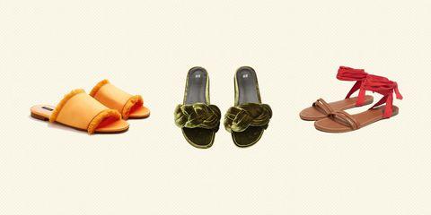 Footwear, Shoe, Sandal, Tan, Beige, Slipper, Leather,