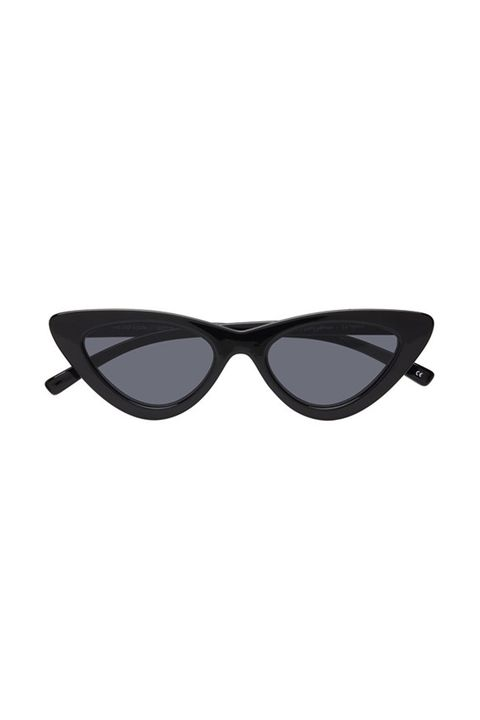 "<p>Thirty seconds to Hollywood PYT.&nbsp;</p><p>Le Specs x Adam Selman, $119; <a href=""https://lespecs.com/the-last-lolita-1602115-black-smoke-mono-las1602115"" target=""_blank"" data-tracking-id=""recirc-text-link"">lespecs.com</a>.</p>"