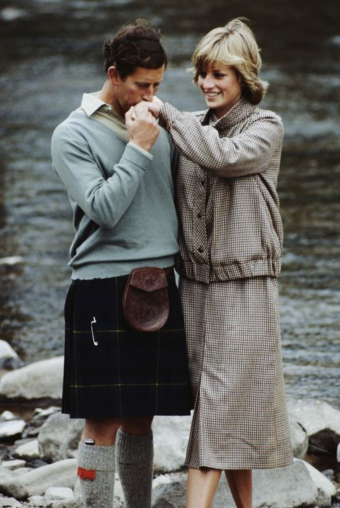 <p>Prince Charles and Diana, Princess of Wales pose together during their honeymoon in Balmoral, Scotland, 19th August 1981.</p>