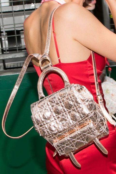 Red, Fashion accessory, Bag, Fashion, Shoulder bag, Metal, Back, Strap, Coquelicot, Fashion design,