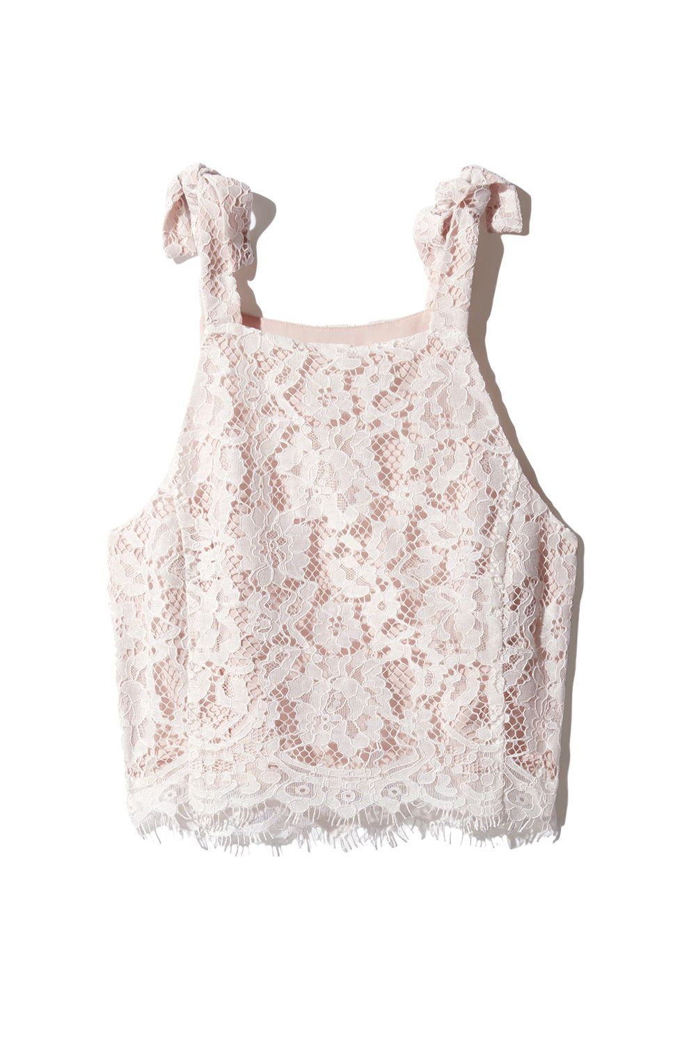 """<p>Like they googled """"What do millennials like?"""" and mashed the top results (pink, lace, shoulder ties) together.</p><p>Aritzia, $60; <a href=""""http://us.aritzia.com/product/devere-blouse/62855.html?dwvar_62855_color=6824"""" target=""""_blank"""" data-tracking-id=""""recirc-text-link"""">aritzia.com</a>.</p>"""