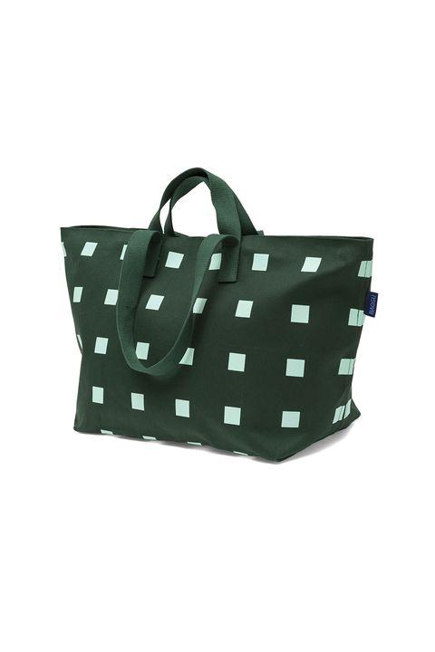 Bag, Handbag, Green, Pattern, Polka dot, Design, Tote bag, Fashion accessory, Diaper bag, Shoulder bag,