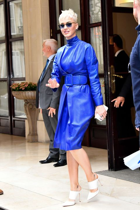<p>This is a turtleneck. In cobalt blue leather. WYD??</p>