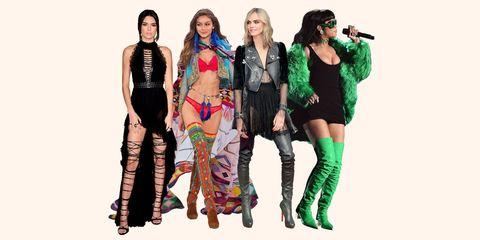 Clothing, Fashion, Leggings, Fashion model, Fashion design, Footwear, Fun, Costume, Costume design, Knee-high boot,