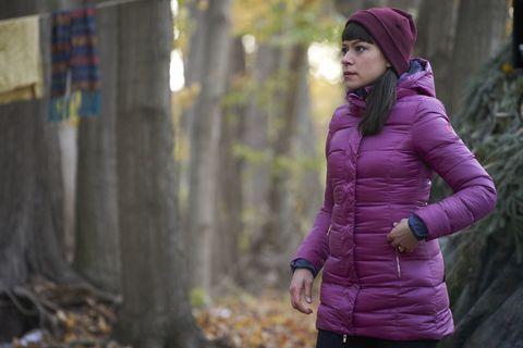 Jacket, Clothing, Purple, Violet, Outerwear, Pink, Coat, Winter, Hood, Tree,