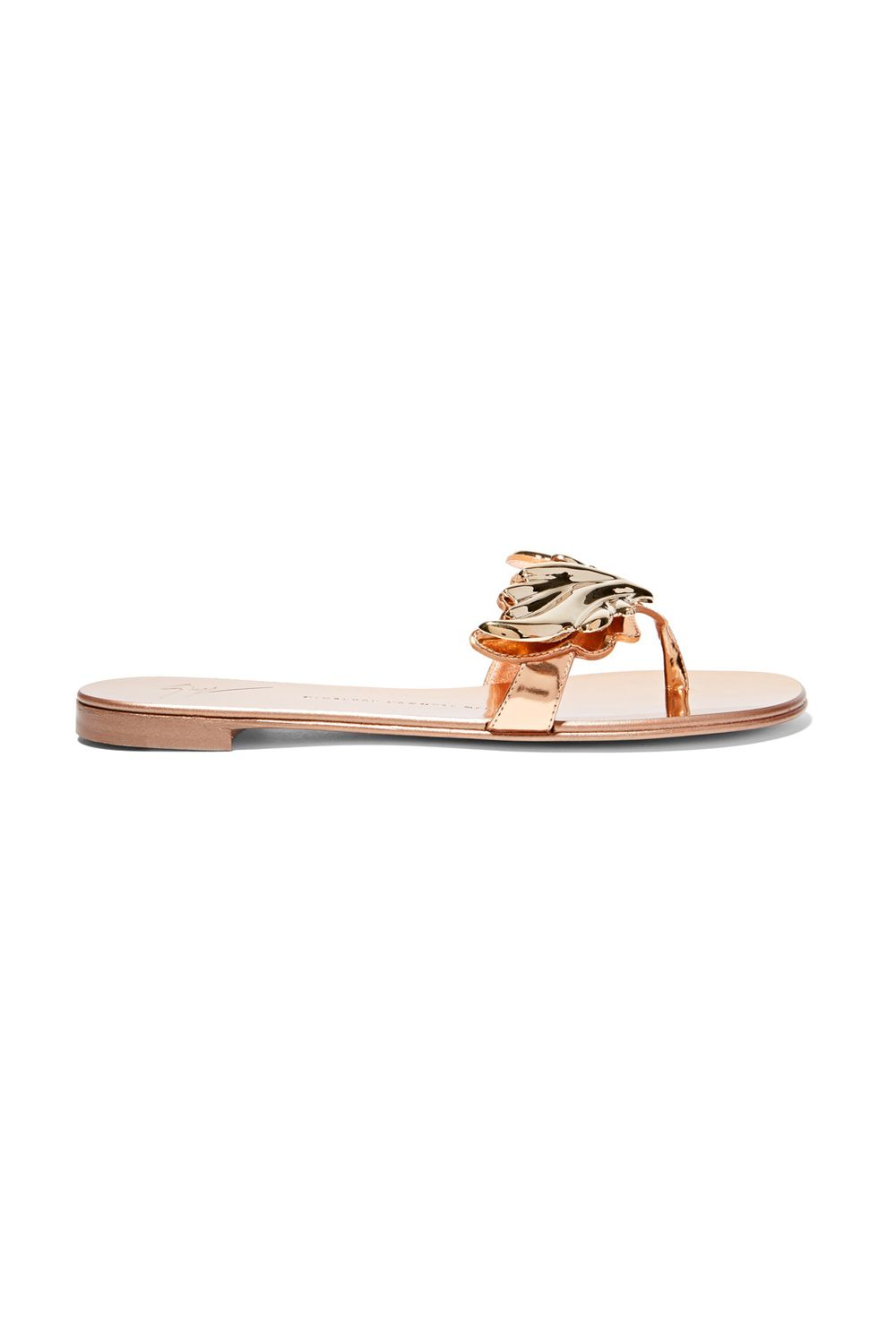 "<p><span class=""redactor-invisible-space"" data-verified=""redactor"" data-redactor-tag=""span"" data-redactor-class=""redactor-invisible-space"">You wanted ""non-basic."" You got non-basic with these laurel-gilded sandals, fit for a triumphal march.&nbsp&#x3B;</span></p><p><strong data-redactor-tag=""strong"">BUY IT:&nbsp&#x3B;</strong><span class=""redactor-invisible-space"" data-verified=""redactor"" data-redactor-tag=""span"" data-redactor-class=""redactor-invisible-space""></span>Giuseppe Zanotti, $700&#x3B; <a href=""https://www.net-a-porter.com/us/en/product/665738/giuseppe_zanotti/embellished-metallic-patent-leather-sandals"" target=""_blank"" data-tracking-id=""recirc-text-link"">net-a-porter.com</a>.</p>"