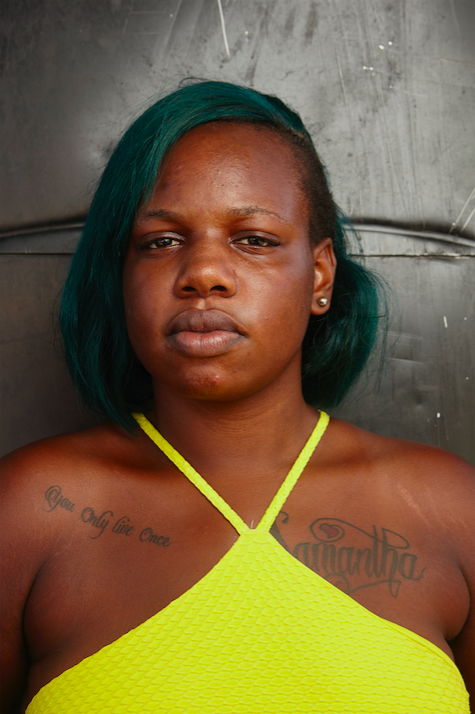 26766892c Skin-bleacher Shanna Beckford, who has a tattoo that reads: You only live  once.