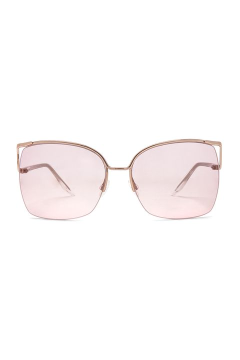 Eyewear, Sunglasses, Glasses, Personal protective equipment, Pink, Vision care, Brown, aviator sunglass, Material property, Goggles,