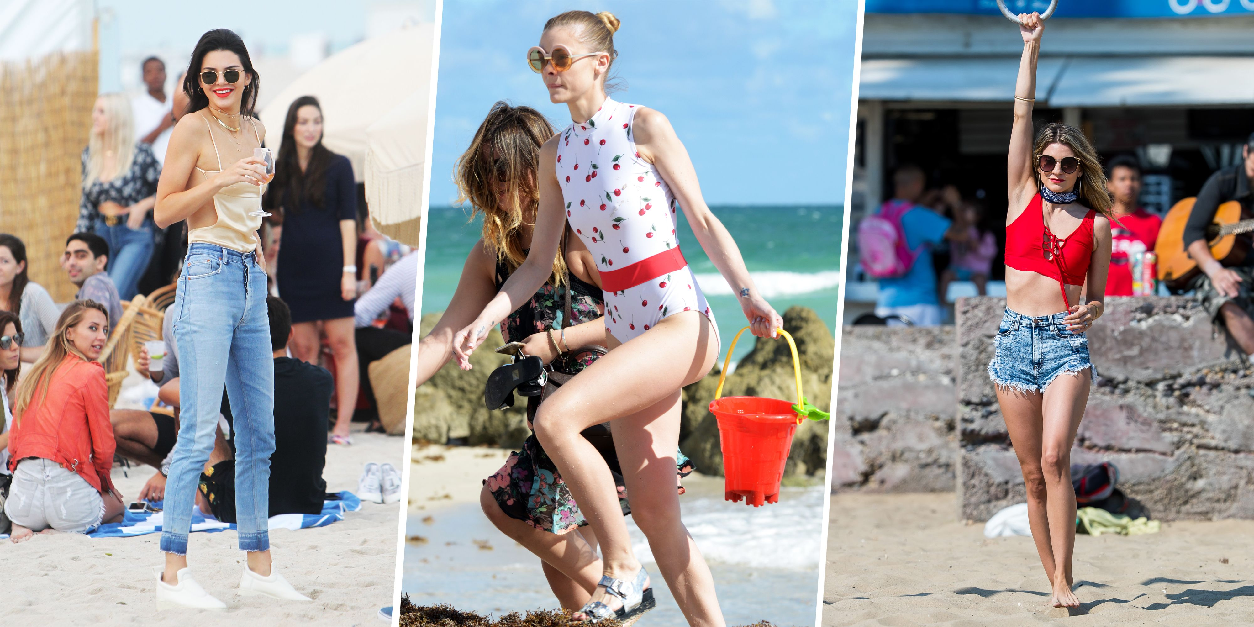 Celebrity Beach Outfit Ideas For Summer What To Wear To