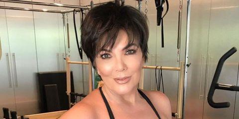Kris Jenner Gym Selfie