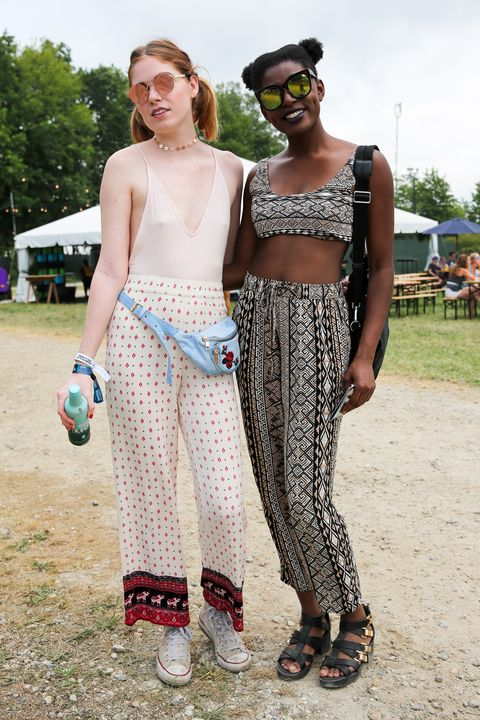 <p>A pair of stylish friends in mirrored sunnies and printed co-ords.&nbsp;</p>