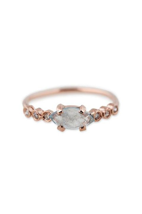 """<p>A marquise aquamarine and six diamonds and """"Sure, I will."""" </p><p><em data-redactor-tag=""""em"""" data-verified=""""redactor"""">Jacquie Aiche, $875</em></p><p><strong data-redactor-tag=""""strong"""" data-verified=""""redactor"""">BUY IT:&nbsp;</strong><span class=""""redactor-invisible-space"""" data-verified=""""redactor"""" data-redactor-tag=""""span"""" data-redactor-class=""""redactor-invisible-space""""><strong data-redactor-tag=""""strong"""" data-verified=""""redactor""""><a href=""""https://jacquieaiche.com/collections/hand/products/6-diamond-aquamarine-marquise-ring"""" target=""""_blank"""" data-tracking-id=""""recirc-text-link"""">jacquieaiche.com</a>.</strong></span></p>"""