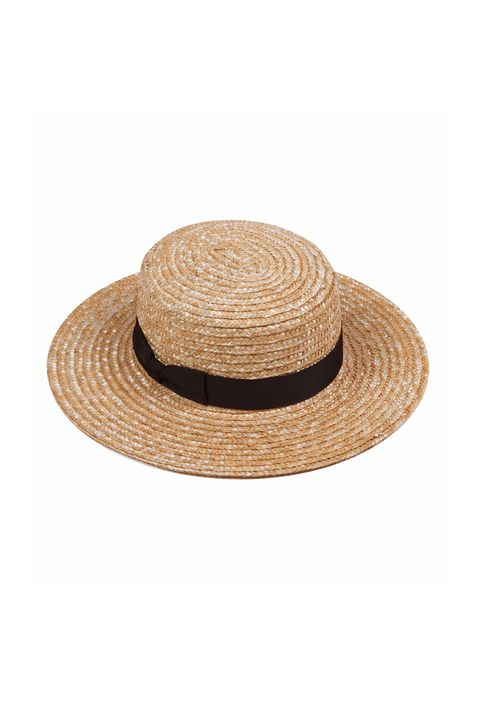 """<p>Pretty self-explanatory, but just for clarity, this is a&nbsp;flat-brimmed and -topped straw hat formerly worn by seamen (titters). Usually has a ribbon; would be better if said ribbon were trailing in the breeze as you made someone else row, row, row your boat (not a euphemism).&nbsp;<br> </p><p><em data-redactor-tag=""""em"""" data-verified=""""redactor"""">Lack of Color, $53</em> </p><p><strong data-redactor-tag=""""strong"""" data-verified=""""redactor"""">BUY IT: <a href=""""https://www.lackofcolor.com.au/collections/straw/products/the-spencer-boater"""" target=""""_blank"""" data-tracking-id=""""recirc-text-link"""">lackofcolor.com.au</a>.</strong></p>"""