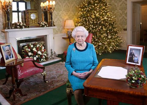 The Queen in Buckingham Palace at Christmas