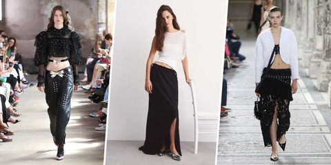 Clothing, Fashion model, Fashion, Shoulder, Runway, Waist, Street fashion, Leg, Dress, Crop top,