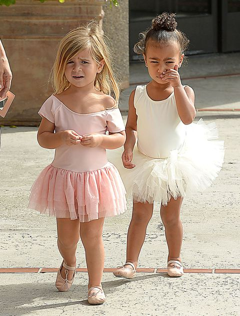 <p>Okay, North West hogs the spotlight, but can we just talk about the brilliant styling here on Penelope's part? Turning a scoop neck into an asymmetrical, off-the-shoulder one: brilliant.&nbsp&#x3B;</p>