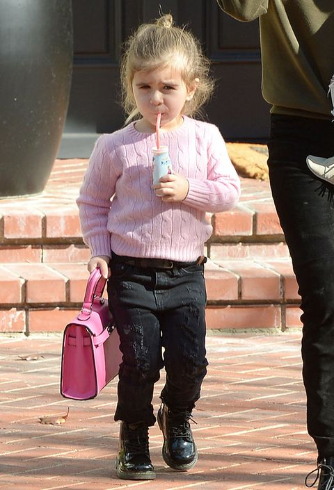 <p>Another day, another juice. Another purse. A pink sweater. All very nice, very cute.&nbsp;</p>