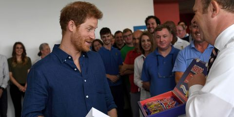 Prince Harry visited Haribo factory