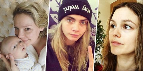 52 Times Celebrities Snapped Pics Without Any Makeup On