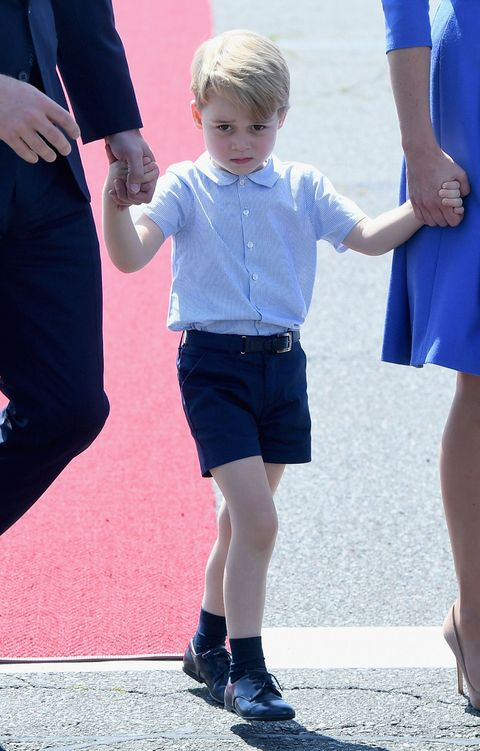 Prince George Looks *Deeply* Unimpressed Upon Arrival in Berlin