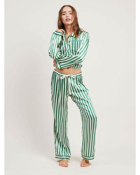 "<p>Pajamas!&nbsp;</p><p><strong data-redactor-tag=""strong"" data-verified=""redactor"">BUY IT: Morgan Lane, $558; <a href=""https://www.morgan-lane.com/collections/pajamas/products/ruthie-emerald-pj-set?variant=33729873746"" target=""_blank"" data-tracking-id=""recirc-text-link"">morganlane.com</a>.</strong></p>"