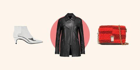 Clothing, Jacket, Red, Outerwear, Leather, Leather jacket, Textile, Coat, Sleeve, Sportswear,