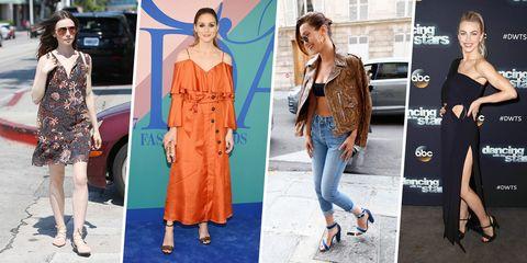 Clothing, Fashion model, Street fashion, Fashion, Orange, Dress, Footwear, Shoulder, Jeans, Shoe,