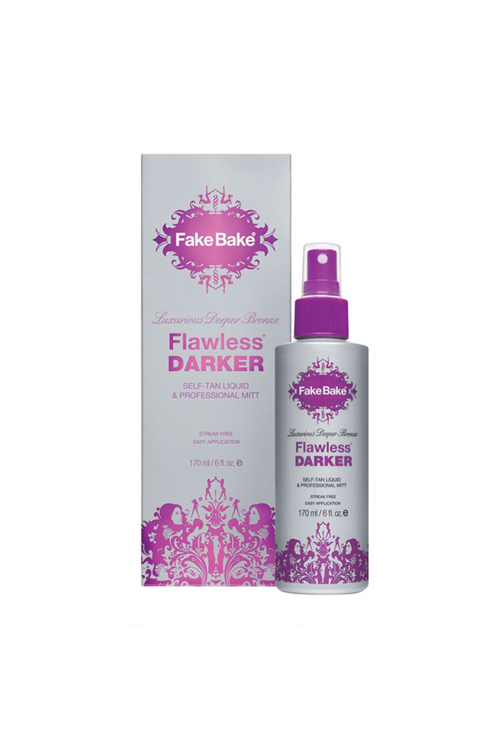 "<p>Not many self-tanners can take darker skin to an even deeper shade without looking weirdly fake, but this cult-favorite spray can and does, and even includes a mitt for easier application.</p><p><i data-redactor-tag=""i"">Fake Bake Flawless Darker, $30</i></p><p><strong data-redactor-tag=""strong"">BUY IT: </strong><a href=""https://us.fakebake.com/store/flawless-darker.html""><strong data-redactor-tag=""strong"">us.fakebake.com</strong></a><strong data-redactor-tag=""strong"">.</strong></p>"