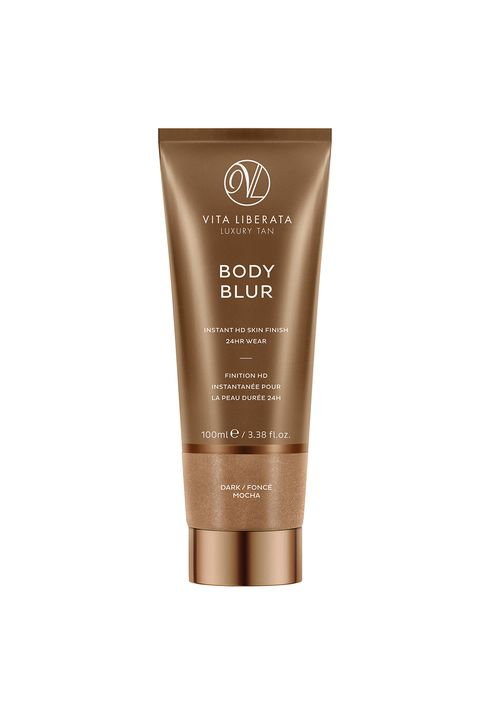 """<p>Meet your real-life Instagram filter. This wash-off bronzer won't deepen your skin tone like other self-tanners, but will instead even out discoloration and hyperpigmentation for an airbrushed-looking finish.</p><p><i data-redactor-tag=""""i"""">Vita Liberata Body Blur, $45</i></p><p><strong data-redactor-tag=""""strong"""">BUY IT: </strong><a href=""""https://www.vitaliberata.com/body-blur-instant-skin-finish-dark/""""><strong data-redactor-tag=""""strong"""">vitaliberata.com</strong></a><strong data-redactor-tag=""""strong"""">.</strong></p>"""