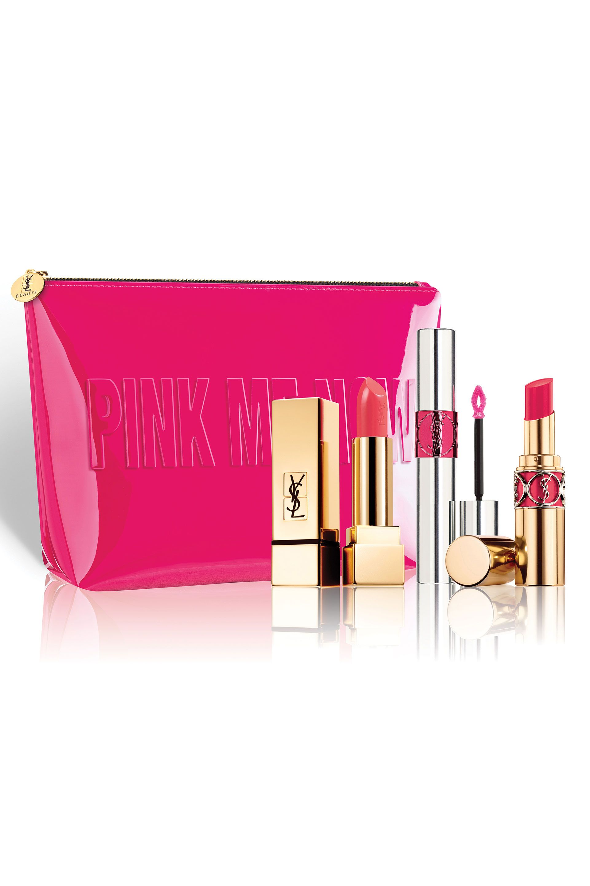 """<p> YSL Beauty Pink Lip Set $74; <a href=""""http://shop.nordstrom.com/s/yves-saint-laurent-lip-set-106-value/4625484?origin=category-personalizedsort"""" target=""""_blank"""" data-tracking-id=""""recirc-text-link"""">Nordstrom.com</a></p><p><span class=""""redactor-invisible-space"""" data-verified=""""redactor"""" data-redactor-tag=""""span"""" data-redactor-class=""""redactor-invisible-space""""></span></p>"""