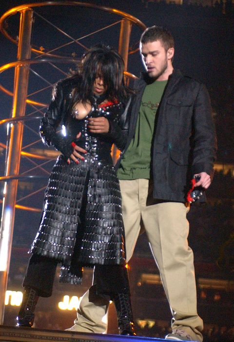 "<p>The infamous half-time <a href=""https://www.si.com/nfl/2016/01/06/janet-jackson-super-bowl-halftime-show"" data-tracking-id=""recirc-text-link"">moment</a>—which left Janet exposed—sparked a huge controversy, as many people were torn over whether or not the incident was accidental or intentional. </p>"