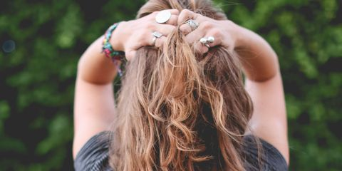 Hair, Shoulder, Hairstyle, Long hair, Brown hair, Back, Beauty, Blond, Arm, Hair coloring,