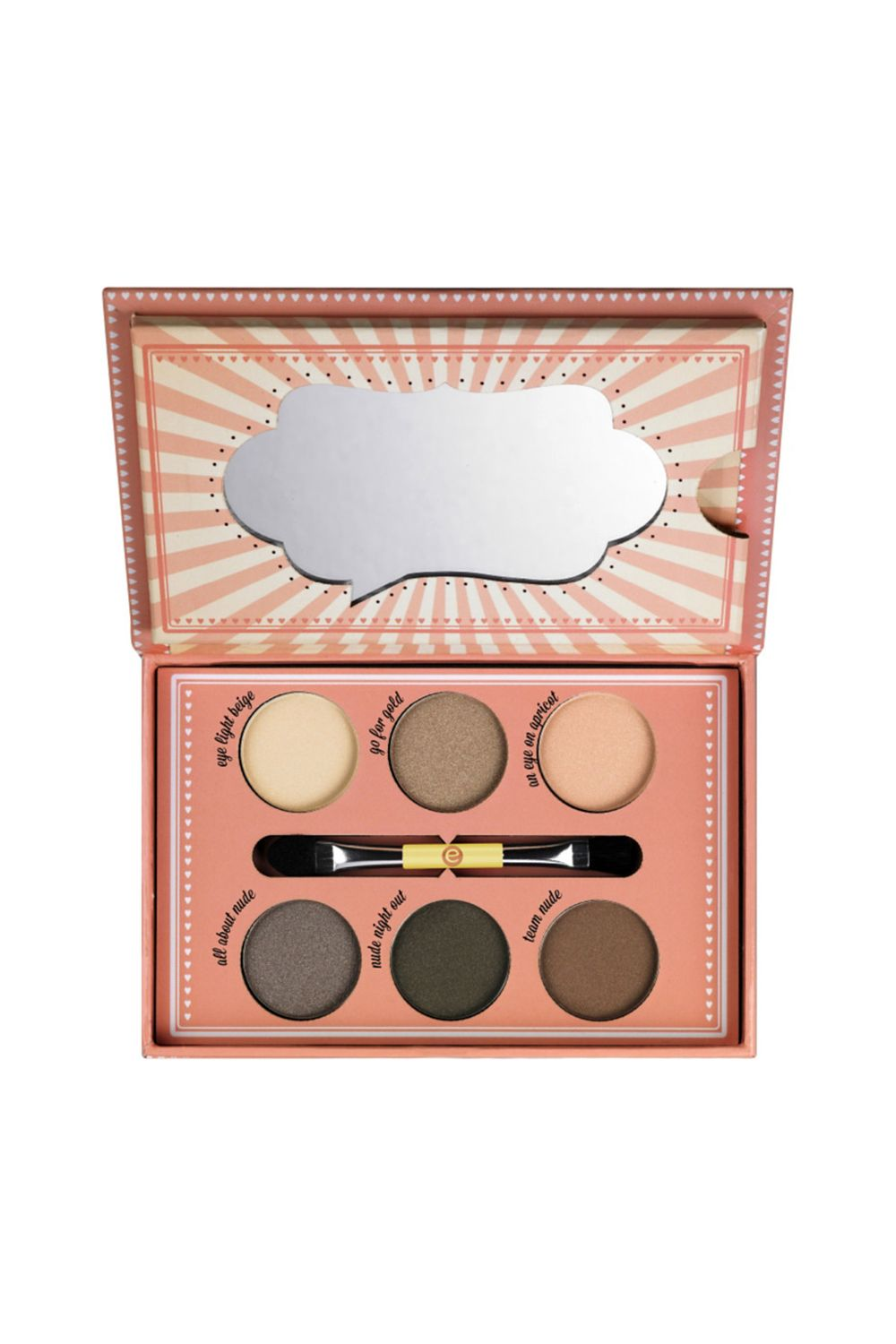 "<p>With six beige-to-espresso shades, this ""nude"" shadow kit and its dual-ended brush can define the lids on virtually any skin color.  </p><p><i data-redactor-tag=""i"">Essence How to Make Nude Eyes Palette, $9.99</i></p><p><strong data-redactor-tag=""strong"">BUY IT: <a href=""http://www.ulta.com/how-make-nude-eyes-palette?productId=xlsImpprod11001381"">ulta.com</a>. </strong></p>"
