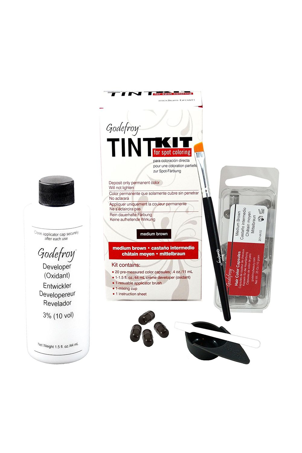 """<p>Though this tint is lacking in the fancy-packaging department, it makes up for it by being a true, salon-level brow tint&nbsp&#x3B;that lasts for weeks. Plus, each easy-to-follow kit contains 20 applications, making it shockingly affordable. </p><p><i data-redactor-tag=""""i"""">Godefroy Tint Kit, $14.18</i></p><p><strong data-redactor-tag=""""strong"""">BUY IT: <a href=""""https://www.amazon.com/gp/product/B0131FFTMO?"""">amazon.com</a>.&nbsp&#x3B;</strong><span data-redactor-tag=""""span""""></span></p>"""