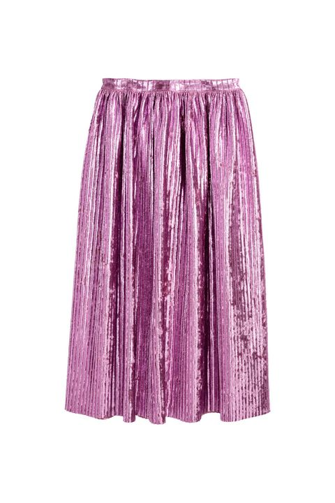 "<p>The pleated midi skirt: Still not dead. Get it now in this extra, Gucci-ish pink metallic...</p><p><em data-redactor-tag=""em"" data-verified=""redactor"">H&amp;M, $70</em></p><p><strong data-redactor-tag=""strong"" data-verified=""redactor"">BUY IT:&nbsp;</strong><span class=""redactor-invisible-space"" data-verified=""redactor"" data-redactor-tag=""span"" data-redactor-class=""redactor-invisible-space""><strong data-redactor-tag=""strong"" data-verified=""redactor""><a href=""http://www.hm.com/us/product/67717?article=67717-A"" target=""_blank"" data-tracking-id=""recirc-text-link"">hm.com</a>.</strong></span></p>"